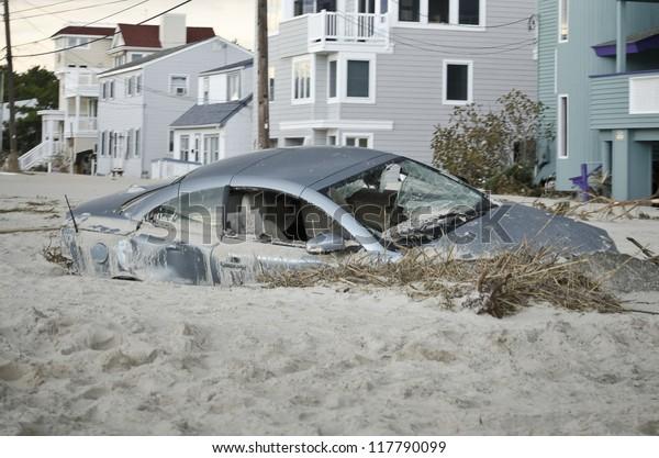 Long Beach Islandnjnovember 1 Car Badly Stock Photo Edit Now 117790099