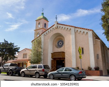 Long beach, MAR 18: Exterior view of the Bay Shore Community Congregational Church on MAR 18, 2018 at Long Beach, Los Angeles County, California
