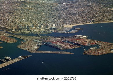 long beach marina and cargo terminal, Los Angeles area