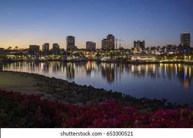Long Beach, MAY 1: Sunset Long Beach skyline on MAY 1, 2017 at Long Beach, Los Angeles, California