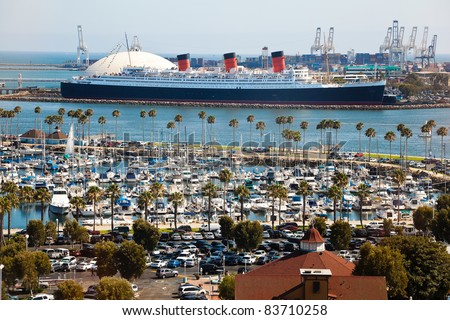 LONG BEACH, USA - JULY 30: Thousands of cars and boats come to the Crawfish Festival on July 30, 2011 in Long Beach, USA. Crawfish Festival has become a tradition to thousands of festival goers.