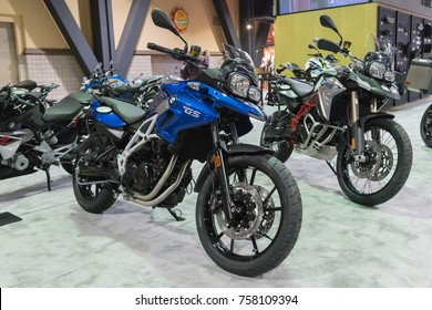 Long Beach, USA - November 17, 2017: BMW F 700 GS on display during Progressive International Motorcycle Show.