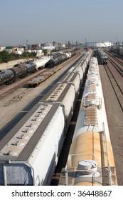 Long Beach's port train yard