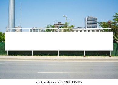 Long Billboard Blank Frame mockup