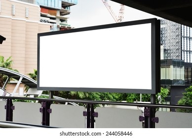 long blank advertising billboard