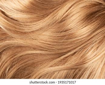 Long blond human shiny hair background