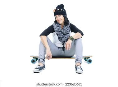 Long board woman style sit