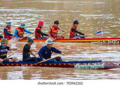 Long Boat Race at Wat Thalo, Muang Phichit,Phichit Province.August 13,2017