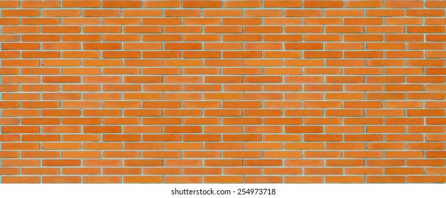 Long brick wall texture background