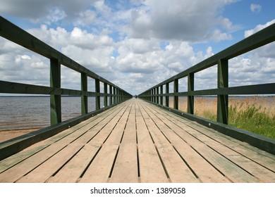 long bridge to clouds