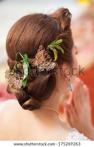 Long Brown Curly Hair Back View Stock Photo Edit Now 175269263