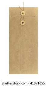 Long brown envelope with string fastener
