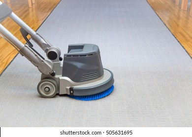 Long carpet chemical cleaning with professionally disk machine. Early spring cleaning or regular clean up.