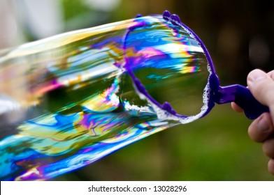 long colorful bubble streaks
