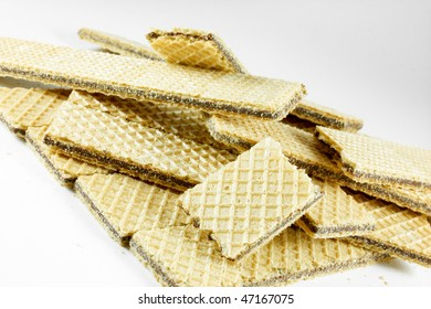 long cookies an white background