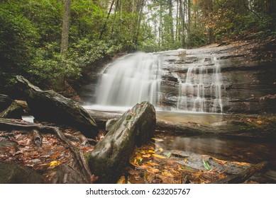 Long Creek Falls on the Appalachian Trail in Chattahoochee National Forest.