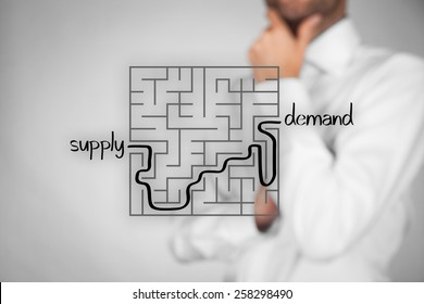 Long and difficult way from company supply to successful customers demand. Marketing product specialist plan new product.