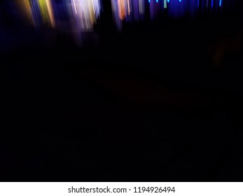 Long exposure abstract light painting on the black background with copy space, meditation concept, art concept, party concept