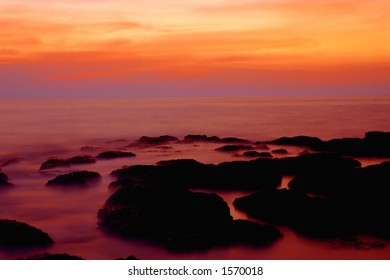 long exposure after sunset (goa, India).