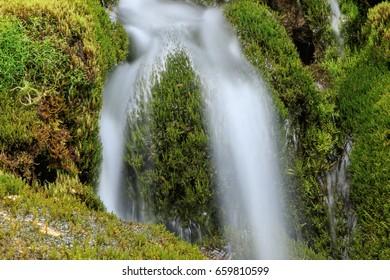 Long exposure Alpine water