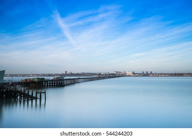 Long Exposure of Amazing Southend Pier Essex, England,it is the longest pleasure pier in the world.