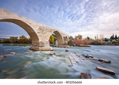 Long Exposure of Aspendos Belkis Ancient Bridge, Antalya