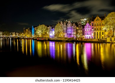Long exposure at a canal in Amsterdam.