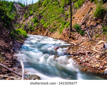 A long exposure of Canyon Creek just before it spills into the North Fork of the Flathead River.