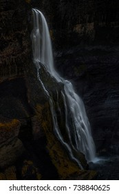 Long exposure capture of Grannifoss waterfall in the valley of Bjorsardalur, Iceland
