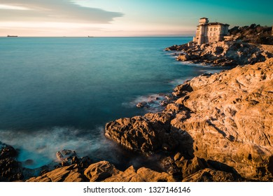 Long exposure at a Castle on the sea, Livorno, Italy
