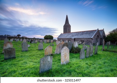 A long exposure of the church at Rame in south east Cornwall