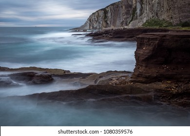 Long exposure in a cliff
