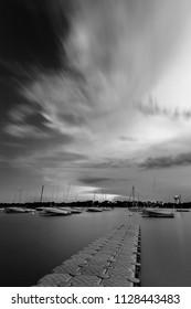 Long exposure clouds Lake Bde Maka Ska