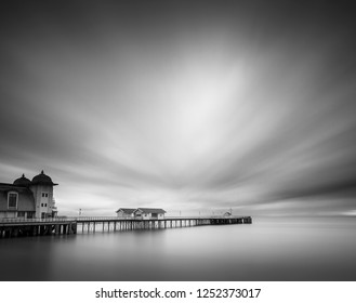 Long exposure clouds over Penarth Pier.