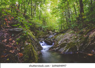 Long exposure of a creek in the Green Mountains, Vermont, USA.