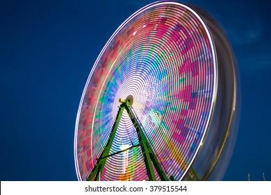 Long Exposure Ferris Wheel. Ostritch Festival. Gilbert, Arizona.