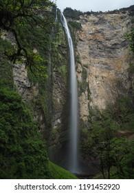 Long exposure Gocta waterfall, Chachapoyas, Peru