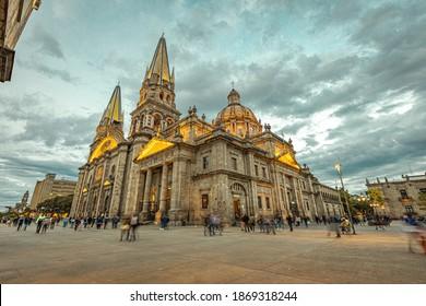 Long exposure of Guadalajara Cathedral Jalisco Mexico