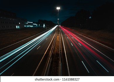 Long exposure of a highway in Amstelveen
