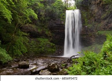 Long Exposure image of Henrhyd Waterfalls in Brecon Beacons, Wales, UK
