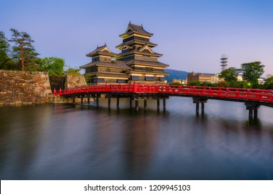 long exposure image of Matsumoto Castle one of Japan's premier historic castles, landmark in Matsumoto city, Nagano prefecture, Japan, landscape, travel and nature concept