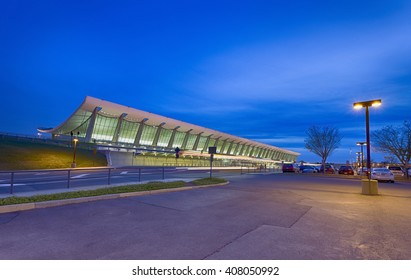 Long exposure. international airport. IAD Washington DC international airport
