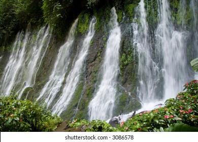 A long exposure of the Juayua waterfalls in El Salvador
