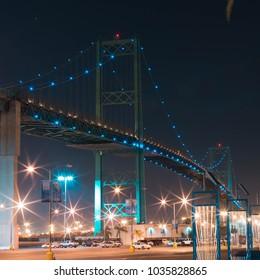 long exposure lit bridge san pedro
