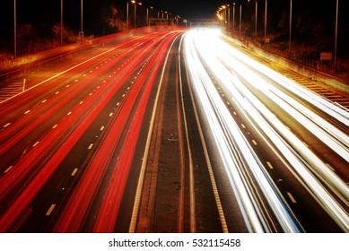 Long Exposure Of The Motorway