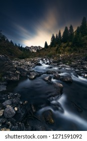 Long Exposure to the mountain Schijenflue