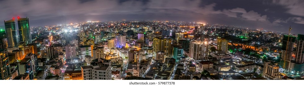 Long exposure at night panorama - Shutterstock ID 579877378