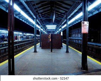 Long Exposure of A NYC Subway Station.