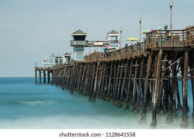 Long exposure of Oceanside pier from the south