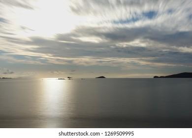 Long exposure on the greek sea